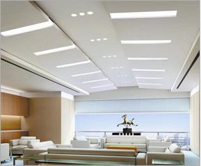 长沙办公室装修设计一站式之安装吊顶阶段