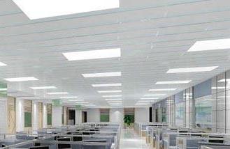 长沙办公室装修公司在装修设计报价时对办公室中顶面整装的处理与装修材料选配