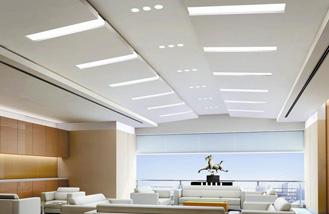 长沙办公室装修公司在装修设计报价时对办公室整装中顶面的处理过程与装修材料软装配饰一站式装修设计施工