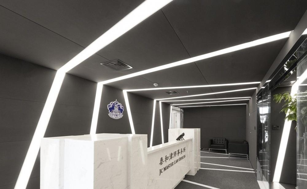 长沙装修公司浩安公装装修案例装修设计案例泰和律师事务所|黑灰色调办公设计装修
