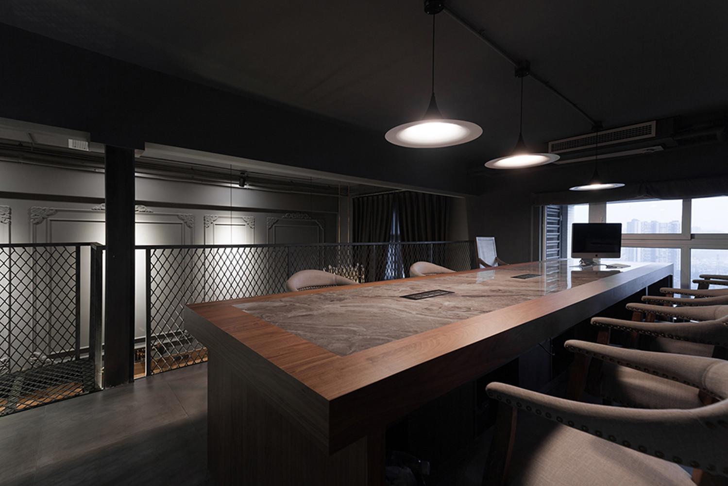 长沙装修公司浩安公装办公空间装修设计案例混搭风格办公室装修设计