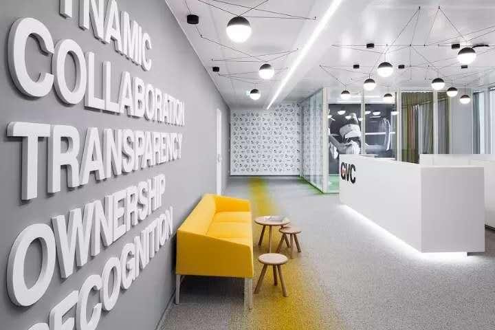 长沙装修公司浩安公装办公空间装修设计案例保加利亚GVC简约风办公空间设计