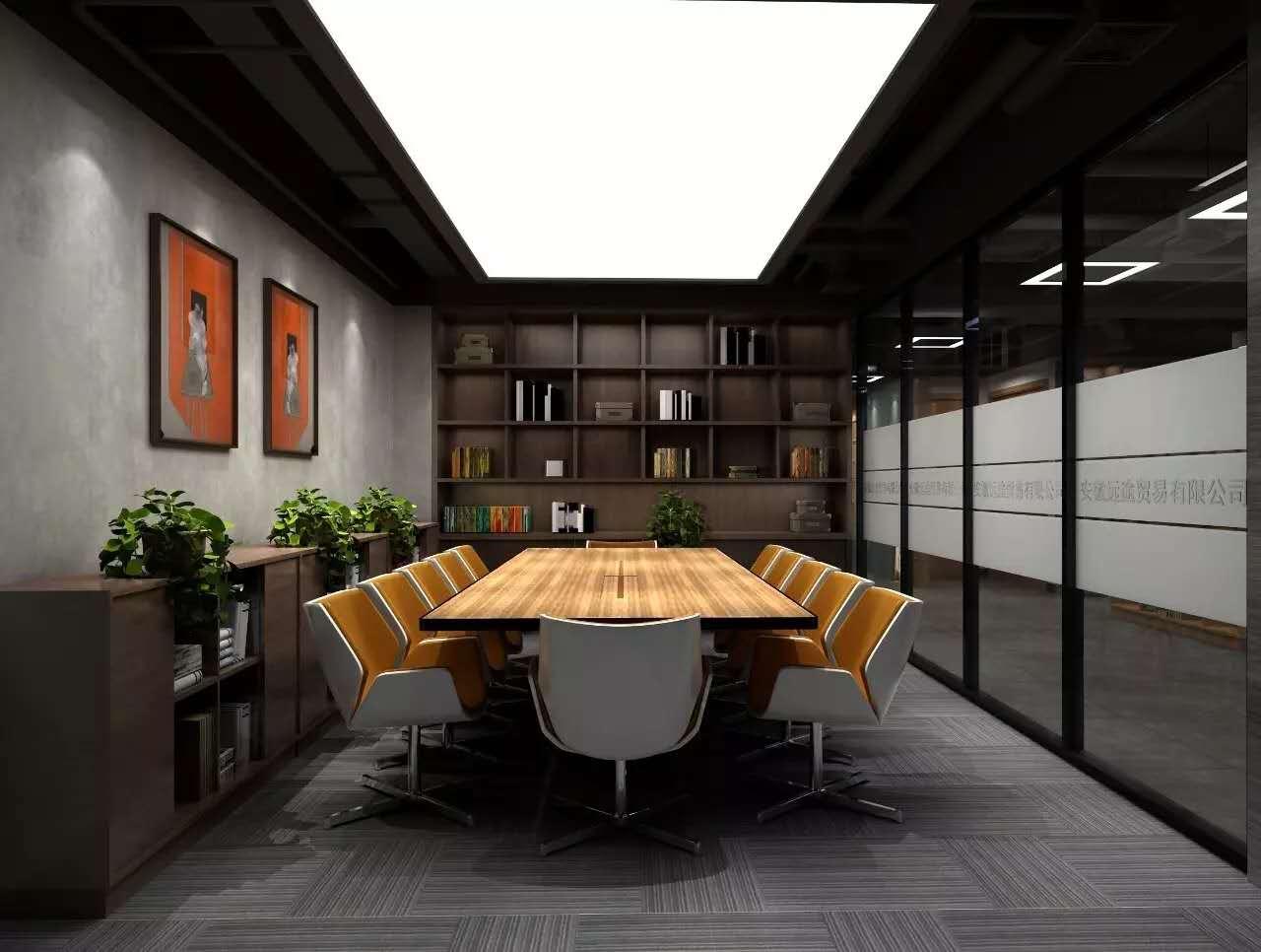 长沙装修公司浩安公装办公空间装修设计案例汉风科技1600㎡复古风办公室装修