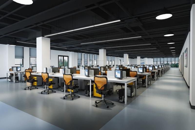 长沙装修公司浩安公装办公空间装修设计案例湖南高速集团调度区办公大厅装修设计效果图