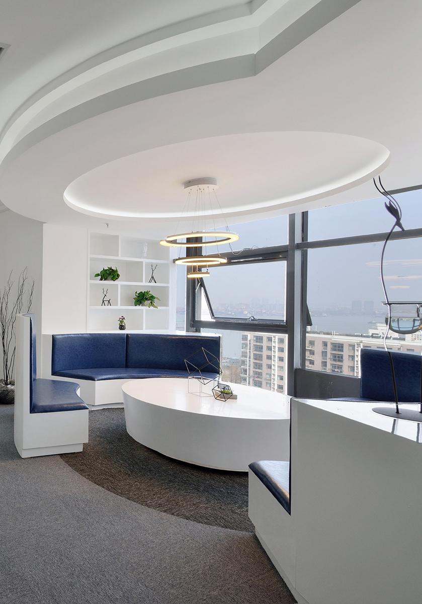 长沙装修公司浩安公装办公空间装修设计案例简约明亮艺术风办公室效果图