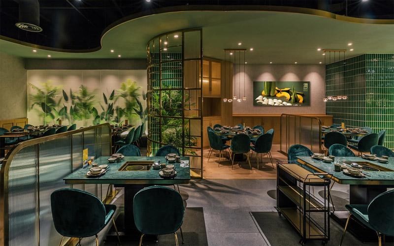 长沙办公室与商业空间装修公司浩安公装餐饮门店装修设计案例效果图大耳象|东南亚田园风餐厅效果