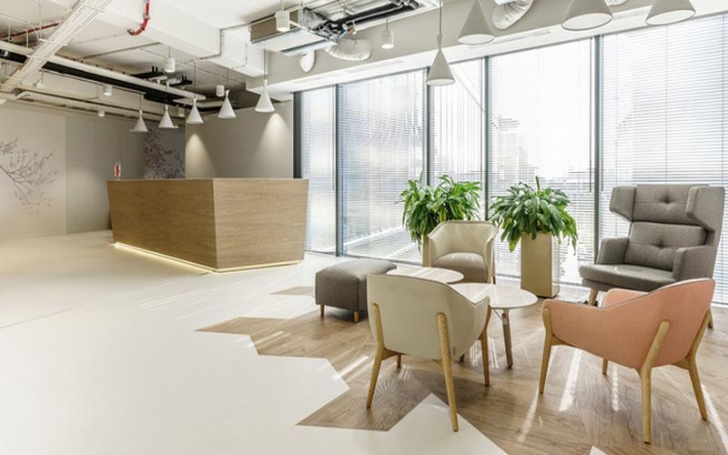 长沙雨花区趣意风格小办公室装修设计效果图