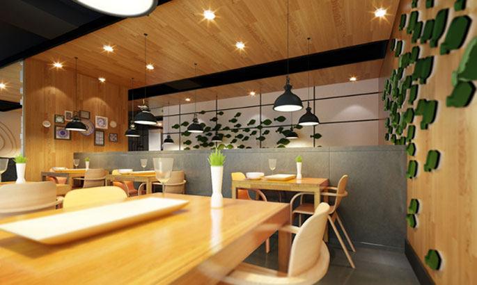 长沙办公室与商业空间装修公司浩安公装餐饮门店装修设计案例效果图泰式特色餐饮设计装修效果图
