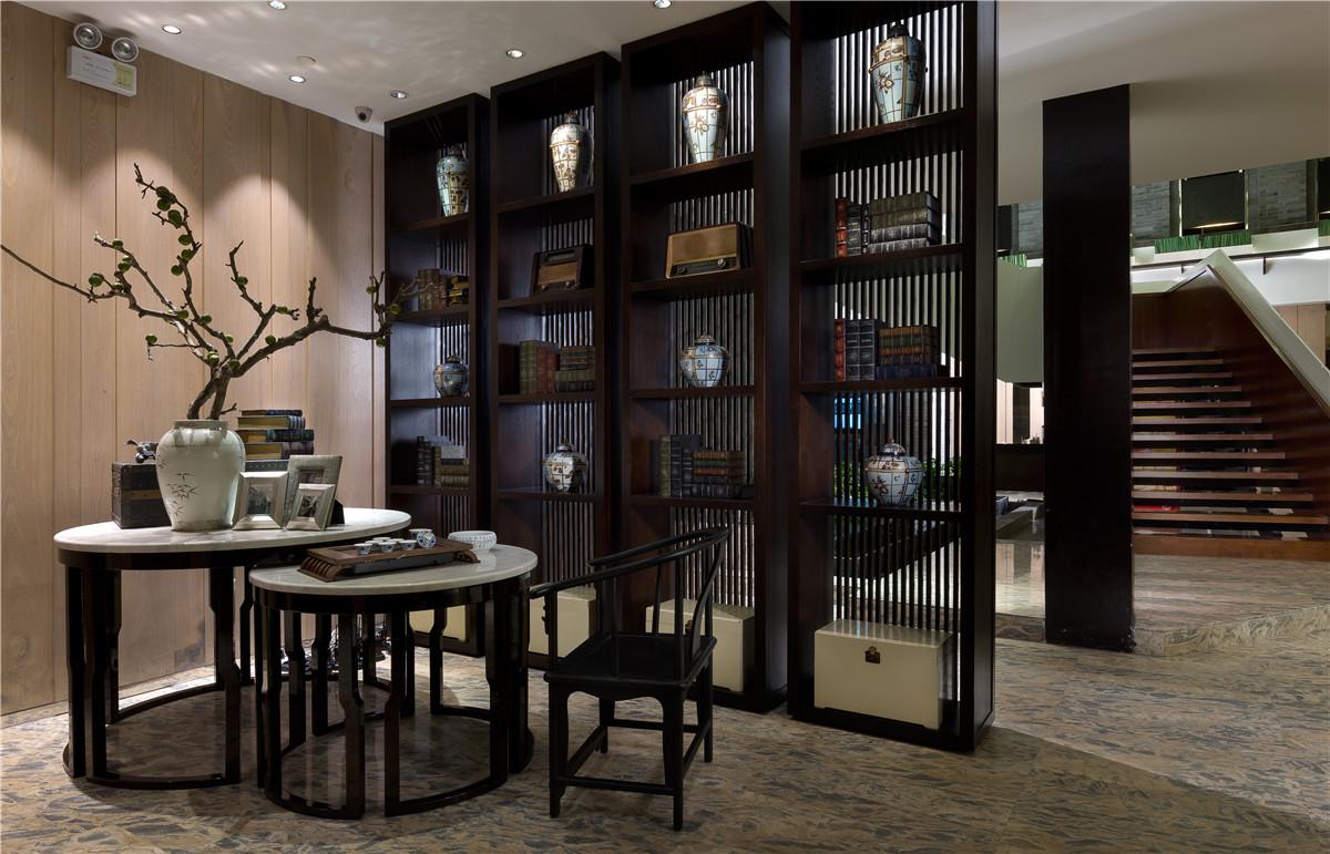 长沙办公室与商业空间装修公司浩安公装餐饮门店装修设计案例效果图采蝶轩现代中式餐馆设计效果图