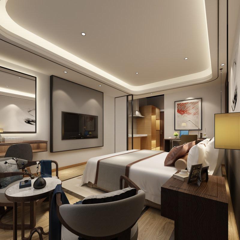 长沙工装公司浩安公装酒店宾馆案例效果图集