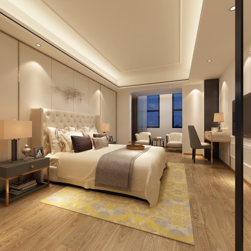 浩安公装公司湖南区域装修案例现代简约风康纳精品公寓酒店室内设计