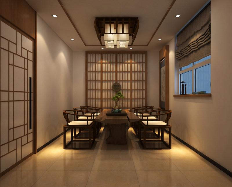 长沙装修公司浩安公装商业空间装修设计案例足浴店室内装修设计效果图