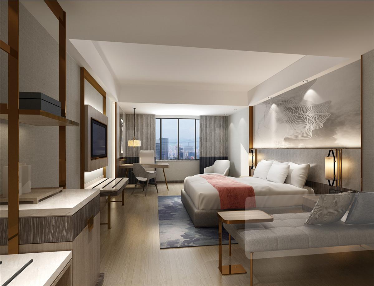 浩安公装长沙办公室装饰装修设计案例格林东方酒店|现代时尚风格设计效果