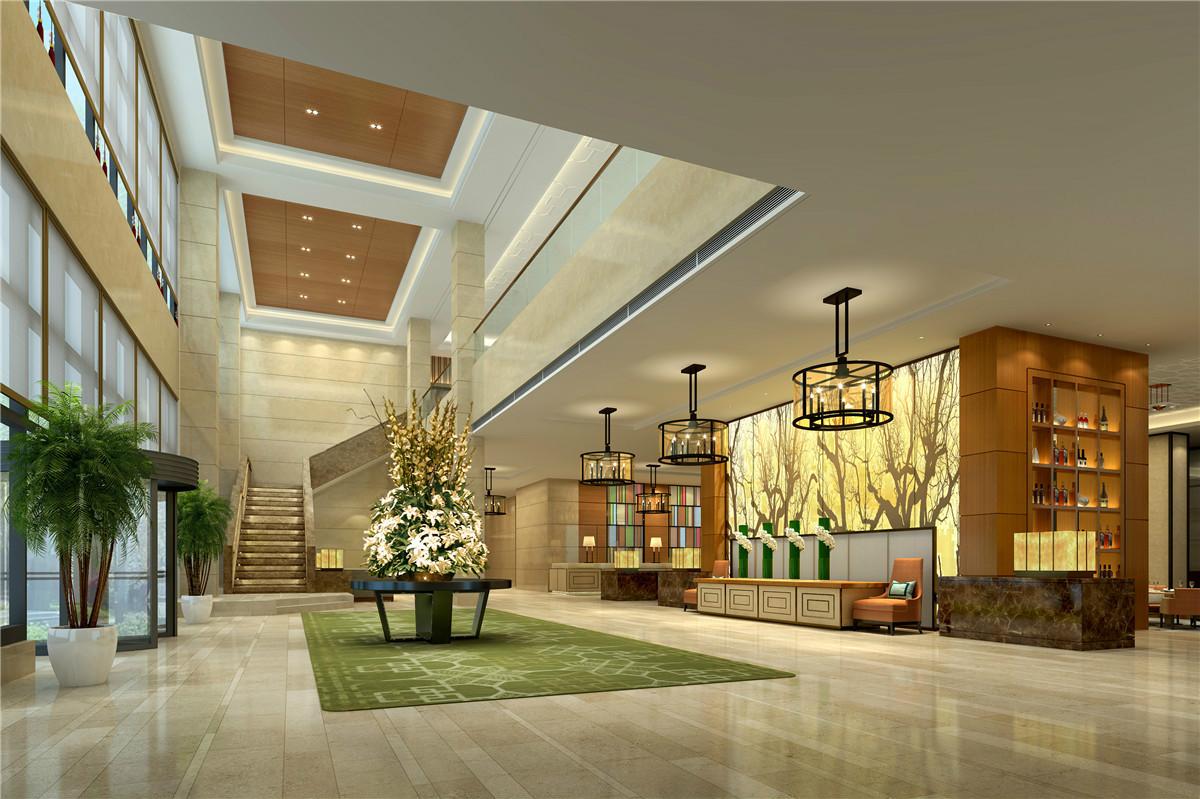 浩安公装长沙办公室装饰装修设计案例华美达|高档艺术风酒店设计效果