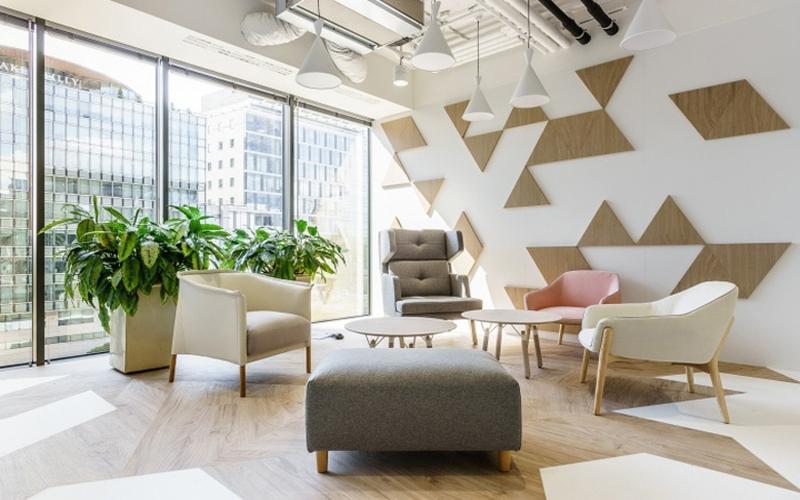 湖南浩安公装公司装修施工资讯知识办公室装修设计如何提升墙面效果