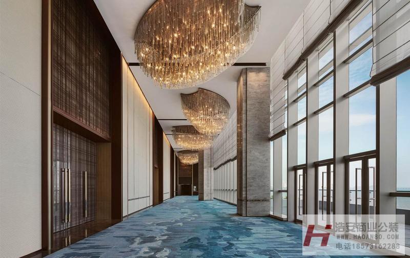 长沙酒店餐厅装修公司浩安公装装修案例洲际星级酒店装修设计效果图