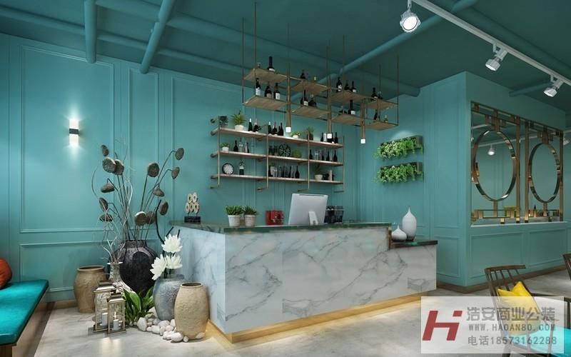 长沙工装公司浩安公装餐饮门店案例效果图集