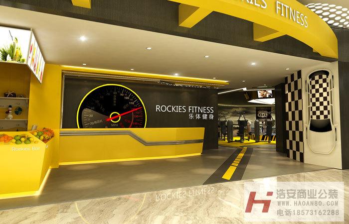 长沙装修公司浩安公装商业空间装修设计案例乐体健身俱乐部装修效果图