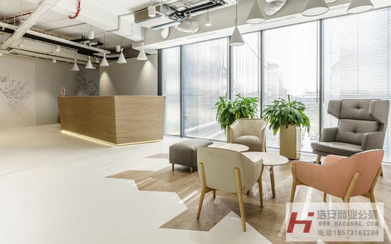 工装公司装潢设计作品天天向上网络|趣意风格小办公室装修设计
