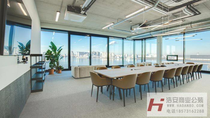 长沙装修公司浩安公装办公空间装修设计案例岳阳广告公司开放式办公室装修设计效果图
