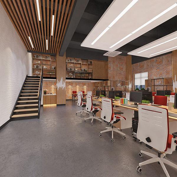 湖南浩安公装公司装修设计资讯知识LOFT办公风格装修设计 打造现代办公室装修前沿