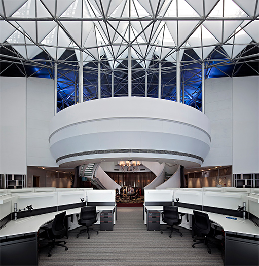 湖南浩安公装公司装修设计资讯知识为什么越来越多企业选择放开式办公区?又该如何设计?