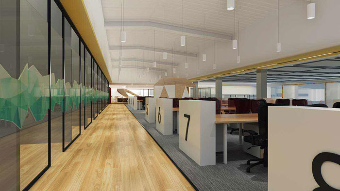 湖南浩安公装公司装修设计资讯知识办公楼装修实施方案