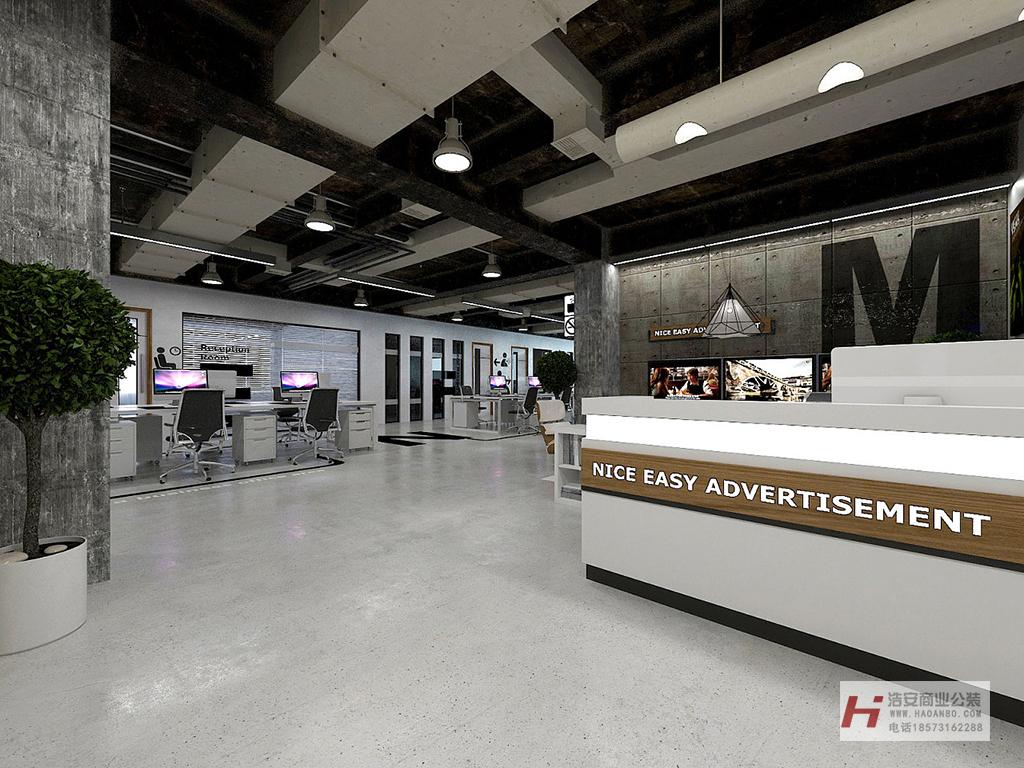 长沙办公室装修设计后工业风格装修设计效果图