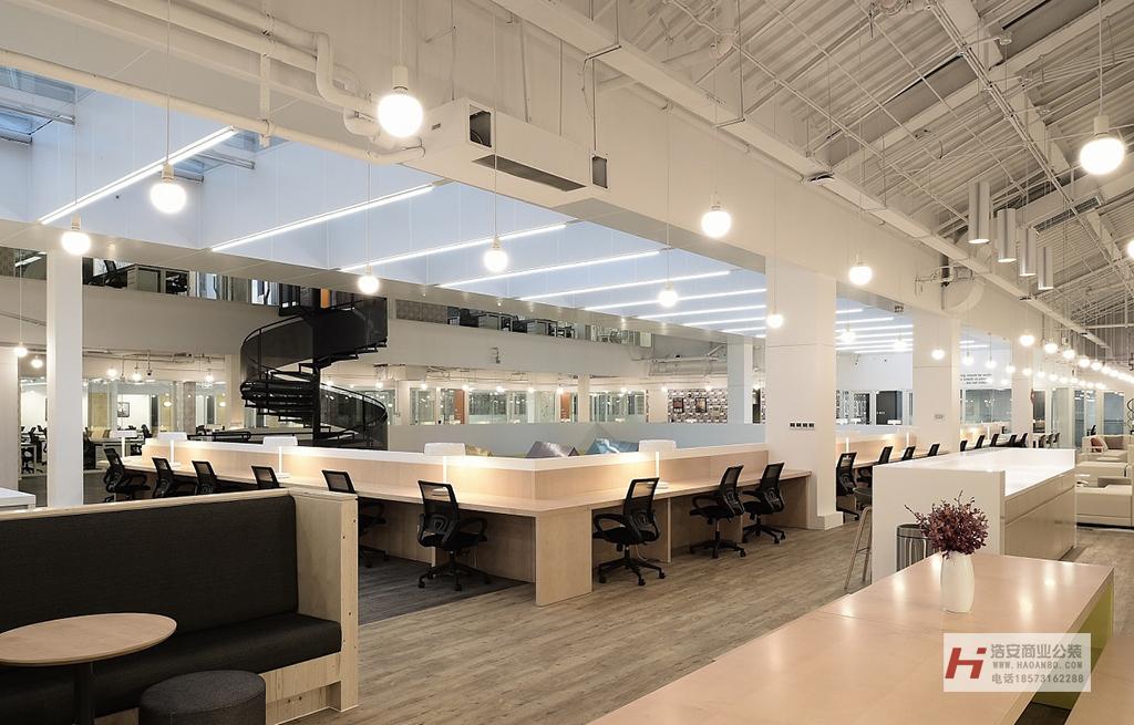 长沙装修公司浩安公装办公空间装修设计案例湖南创客空间设计装修效果图案例