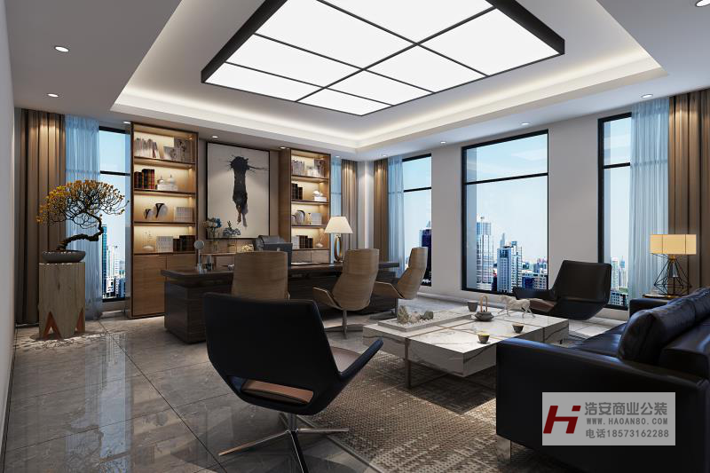 长沙装修公司浩安公装办公空间装修设计案例常德制造研发公司工业混搭风装修设计效果图案例