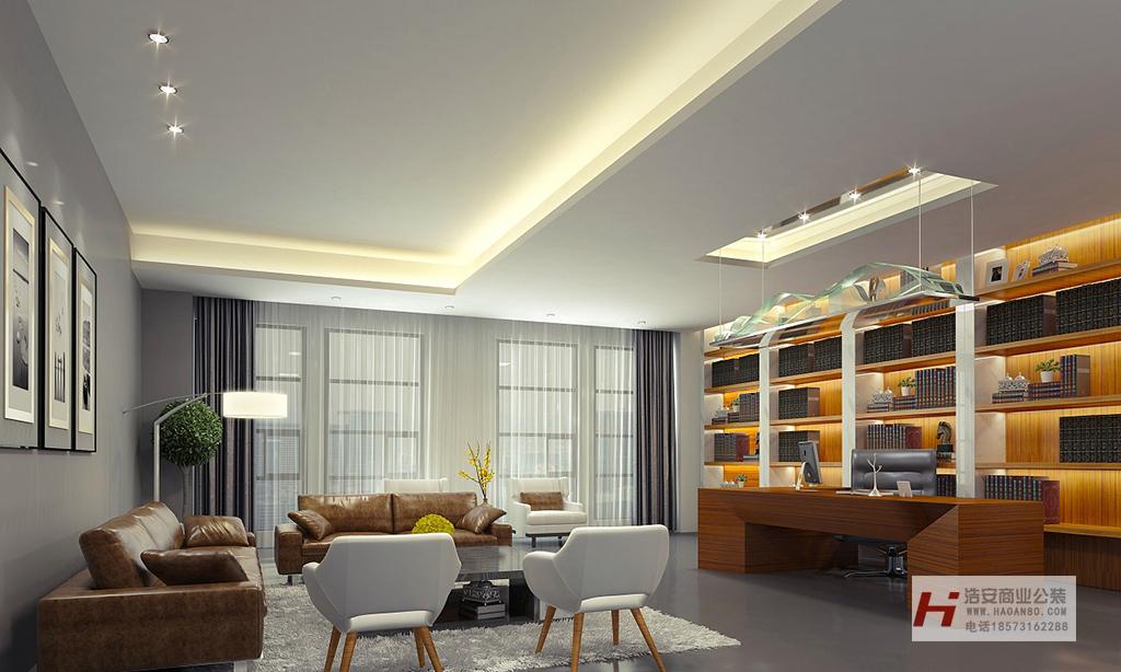 长沙装修公司浩安公装办公空间装修设计案例张家界电商公司后现代简约风的办公室装修设计效果图案例