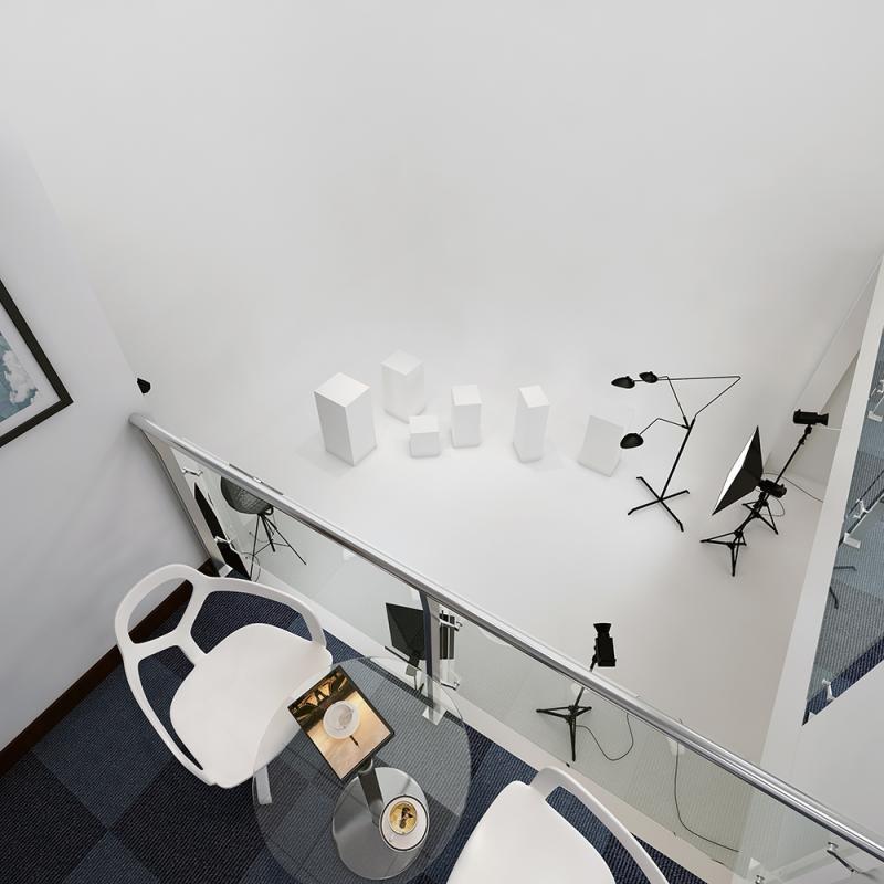 湖南浩安公装公司装修施工资讯知识摄影棚办公室装修设计效果图