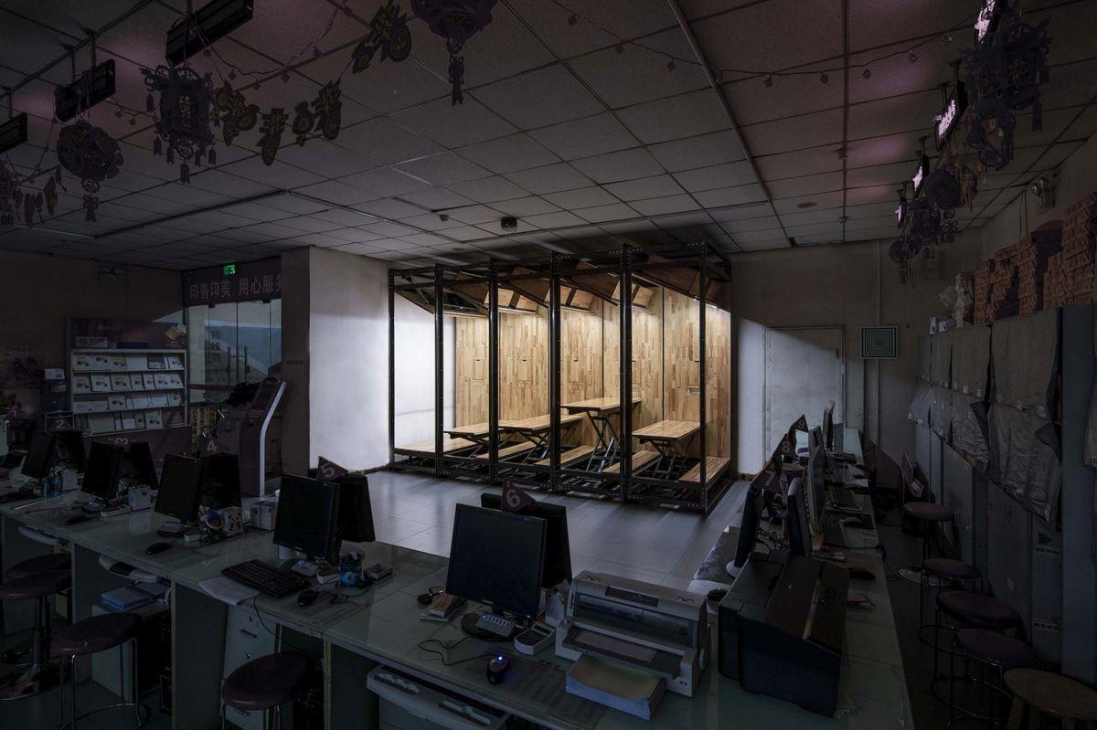 微型办公室装修在商业工作空间的有趣设计独立自治空间效果图