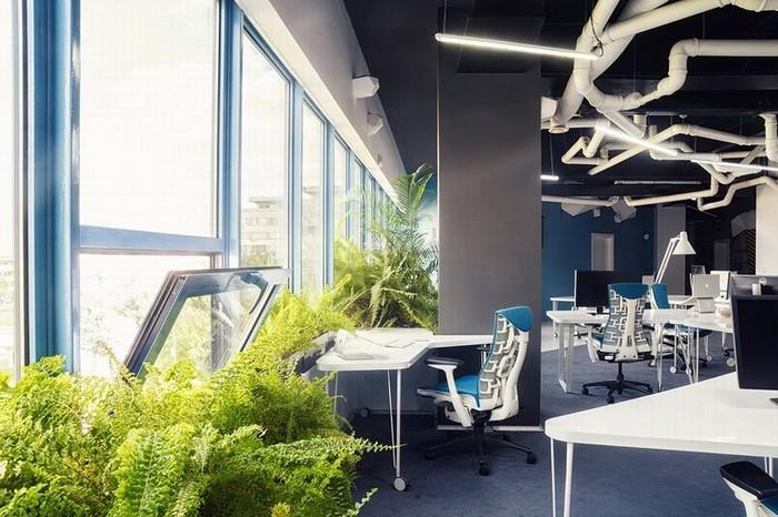 湖南浩安公装公司装修设计资讯知识办公空间设计中四大基本元素中的点与线的把握