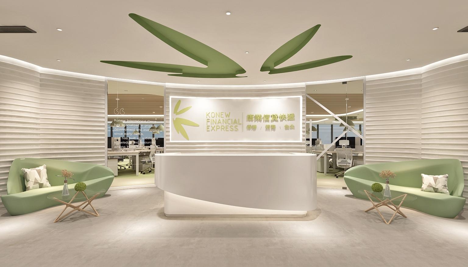 湖南长沙办公空间设计色彩的明度属性的示意图