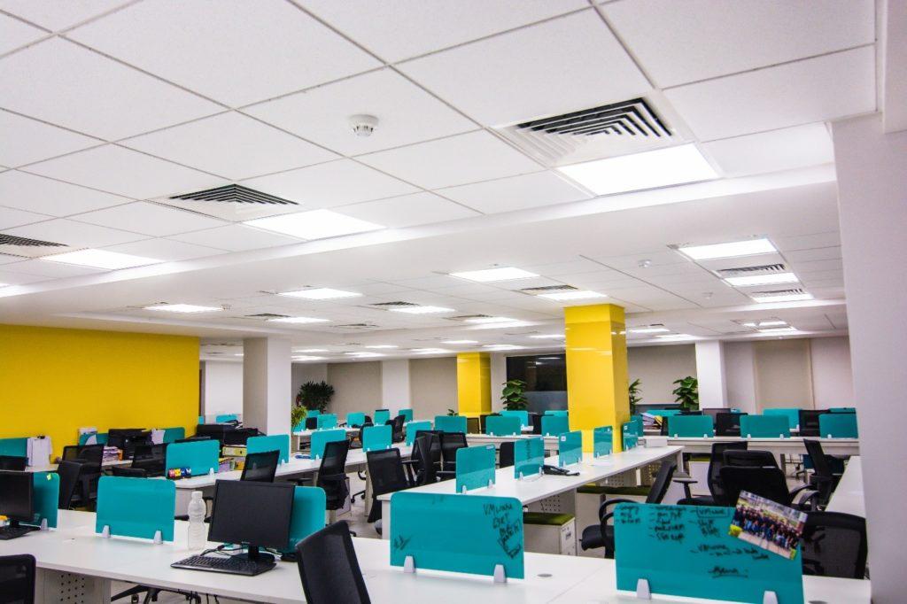 株洲办公室装修色彩的音感设计效果图