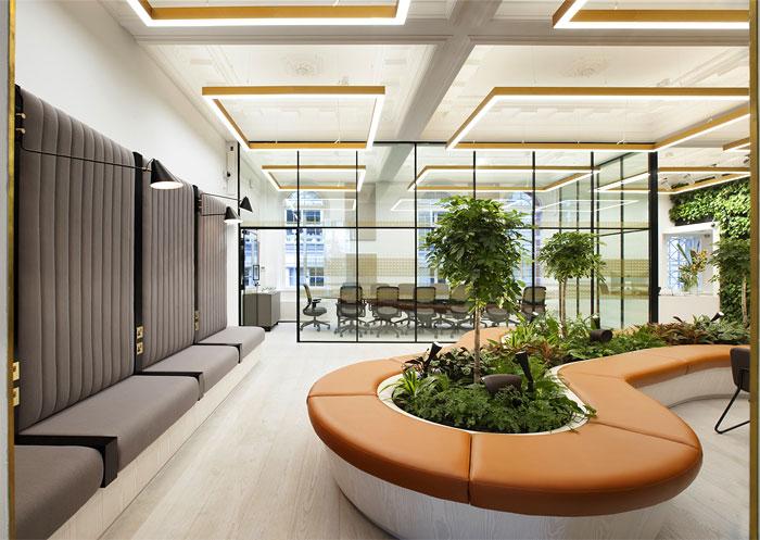 湖南浩安公装公司装修设计资讯知识株洲办公室设计色彩与空间的关系