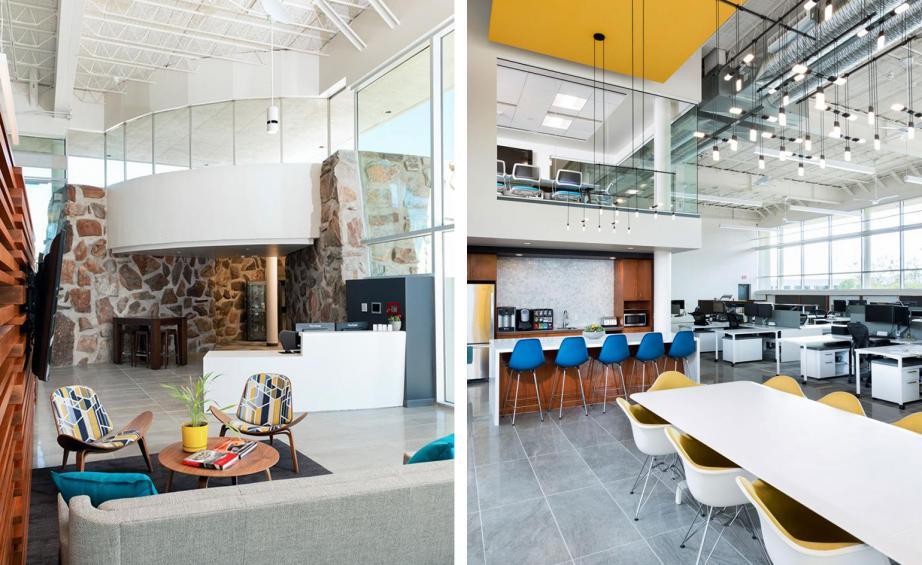 湖南浩安公装公司装修设计资讯知识株洲办公装修公司空间色彩与自然光照设计分析