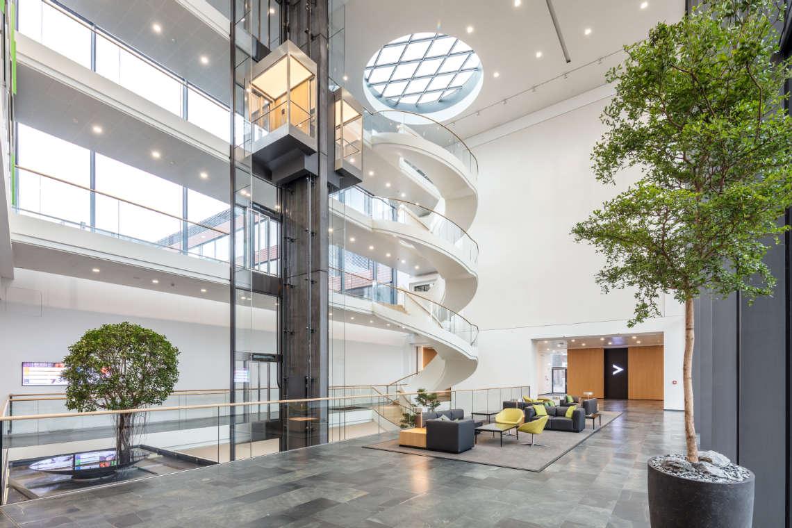 湖南浩安公装公司装修设计资讯知识张家界办公室装修填补空间、创造空间与间接扩大空间的作用