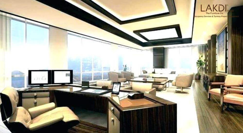 湖南办公楼常用装饰材料的运用手法打造品质感效果图