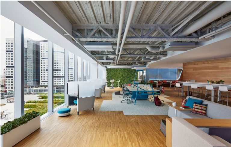 湖南浩安公装公司装修设计资讯知识衡阳办公空间装饰用绿化净化空气与深化空间的设计作用