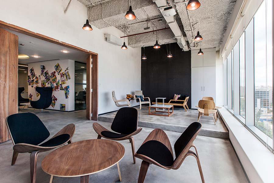 湖南浩安公装公司装修设计资讯知识衡阳办公室设计绿化实现组织和引导空间的装修效果
