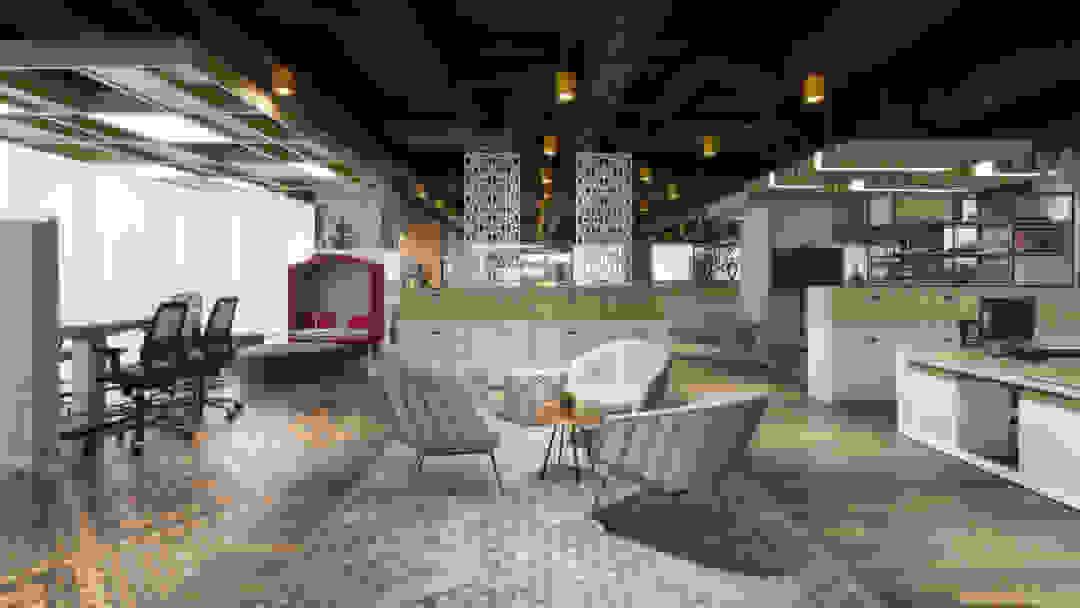 湖南浩安公装公司装修设计资讯知识湘潭办公室装修材质与空间感知的设计技巧