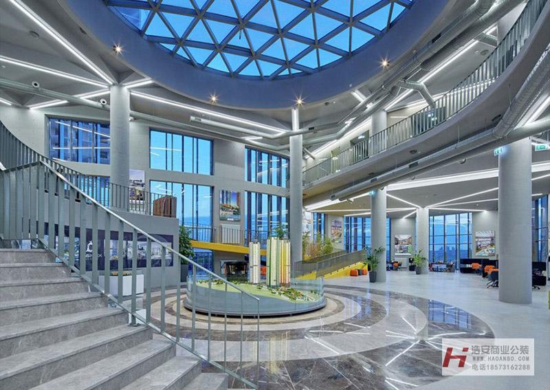 样板房营销中心玻璃风格装修设计效果图外部