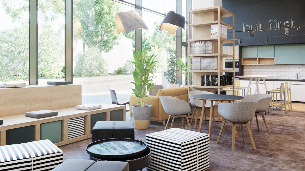 湖南中式风格办公室装修设计效果图