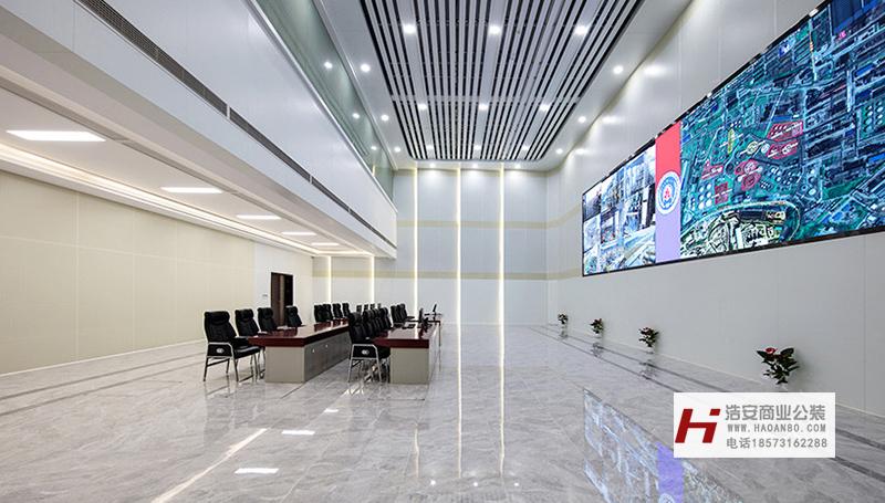 长沙装修公司浩安公装装修案例装修设计案例湖南省应急管理中心|办公楼融合改造升级装修效果