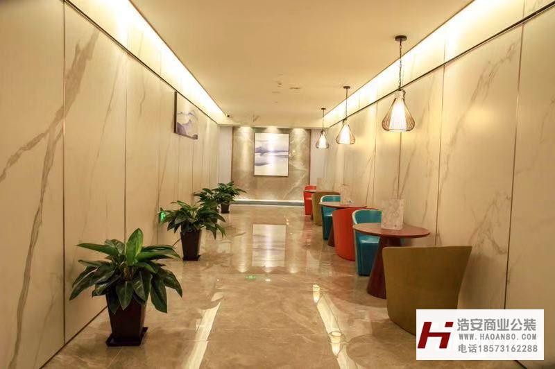 长沙工装公司浩安公装办公空间案例效果图集