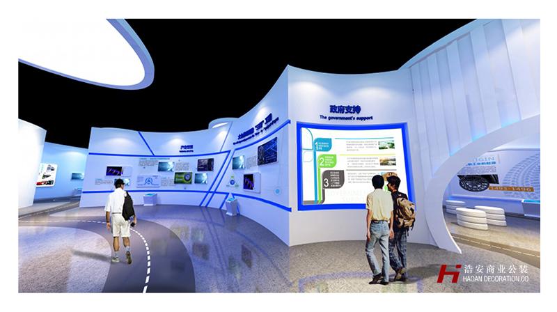 长沙工装公司浩安公装企业展厅案例效果图集