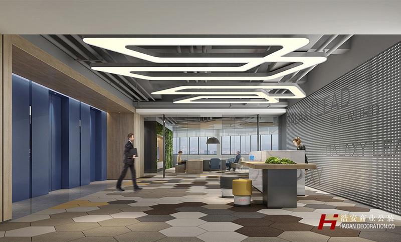 现代地产建筑办公空间装修效果
